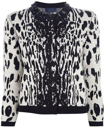 Lanvin leopard print cardigan