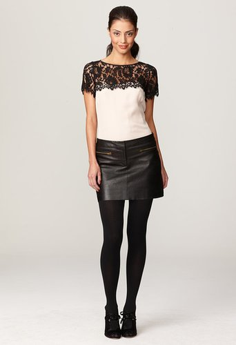 Milly Leather Skirts - Stretch Leather Mini Skirt