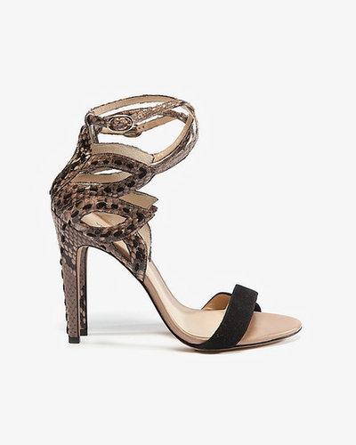 Alexandre Birman Python Heel Sandal