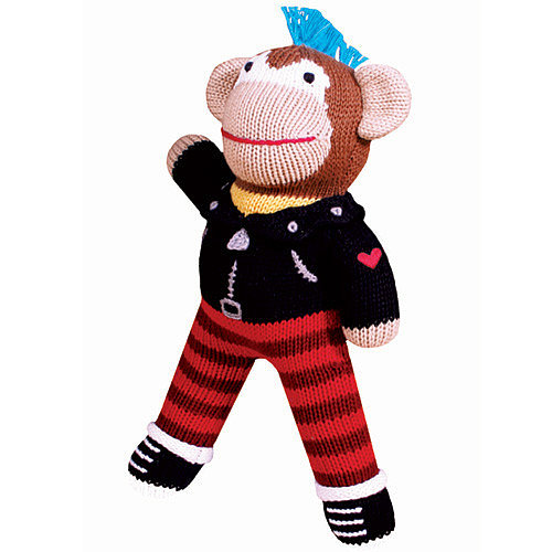 Gain instant best gift-giver status with Zubels' knit Ricky Rotten Monkey ($19-26). He has a blue mohawk — enough said.