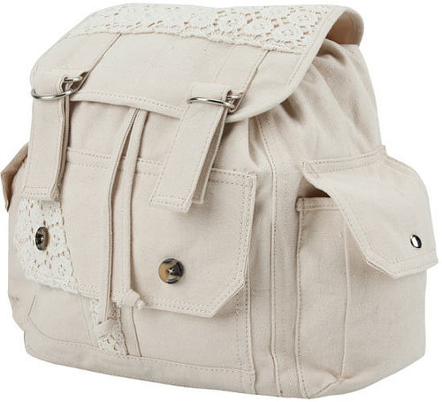 Crochet Trim Backpack