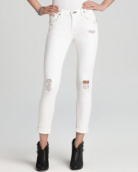 rag & bone/JEAN Jeans - The Dash in Tattered White