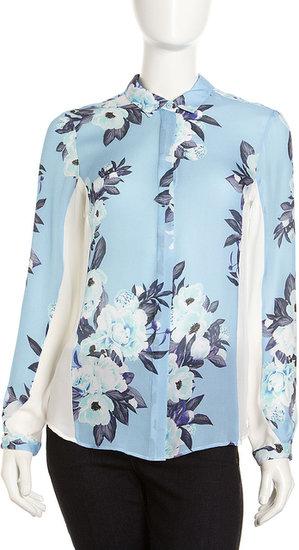 Jeunesse Floral-Print Silk Blouse