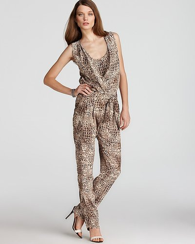 Gerard Darel Animal Print Jump Suit