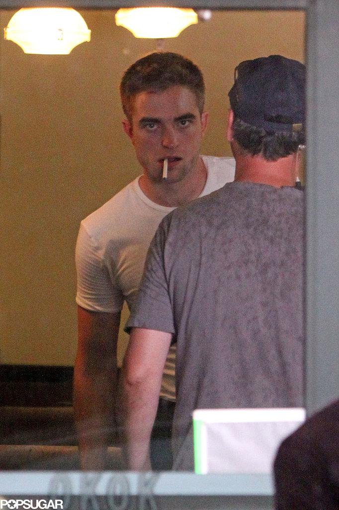 Smokin' Hot Robert Pattinson Gets Close to Mia Wasikowska on Set