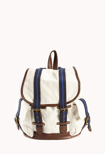 FOREVER 21 Nautical Drawstring Backpack