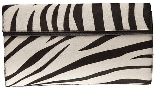 Alaïa Vault big zebra clutch