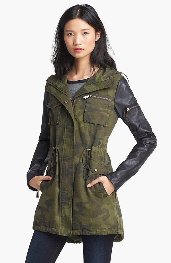 Combining some of our favorite trends, BCBGeneration's leather-sleeved camo coat ($120, originally $180) is to die for.