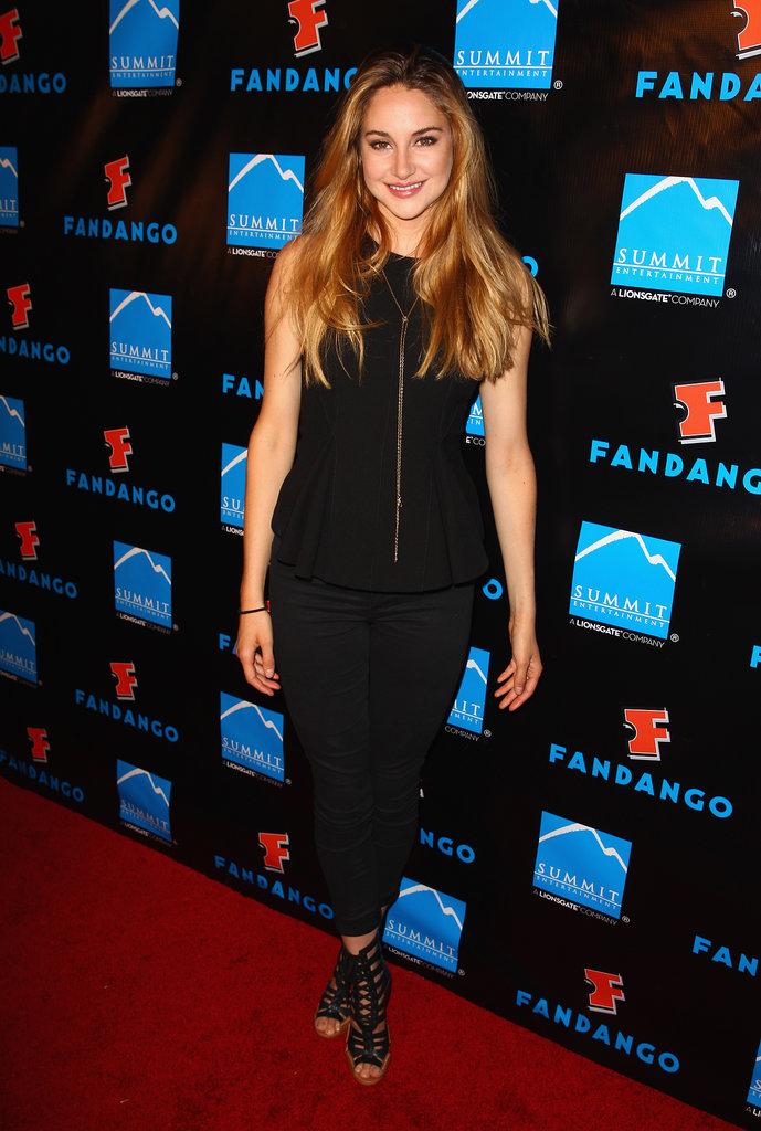 Shailene Woodley attended a VIP celebration on Thursday night.