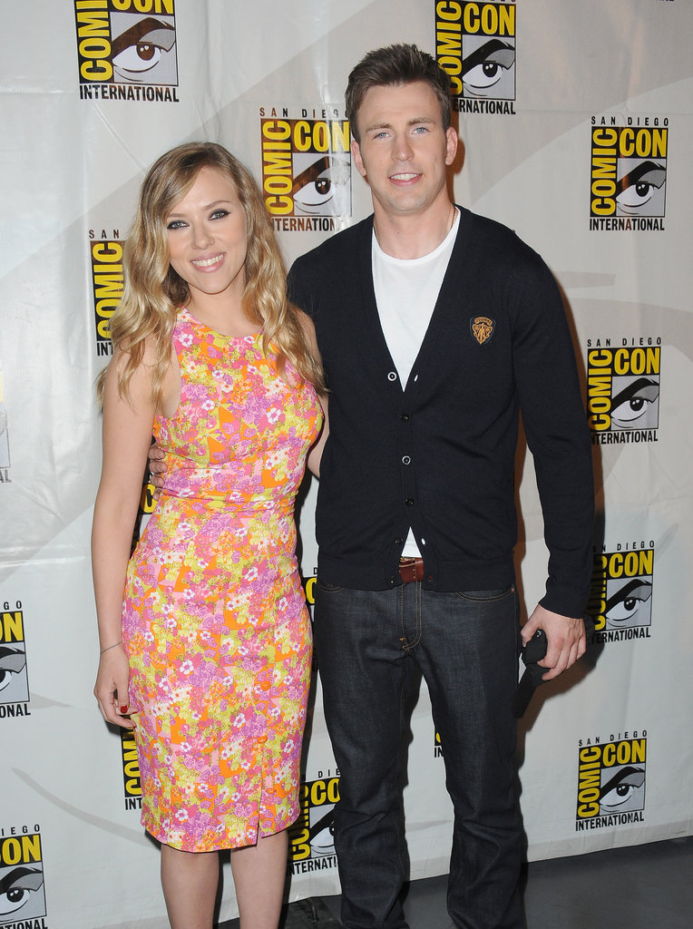 Scarlett Johansson and Chris Evans promoted Captain America: The Winter Soldier in San Diego.