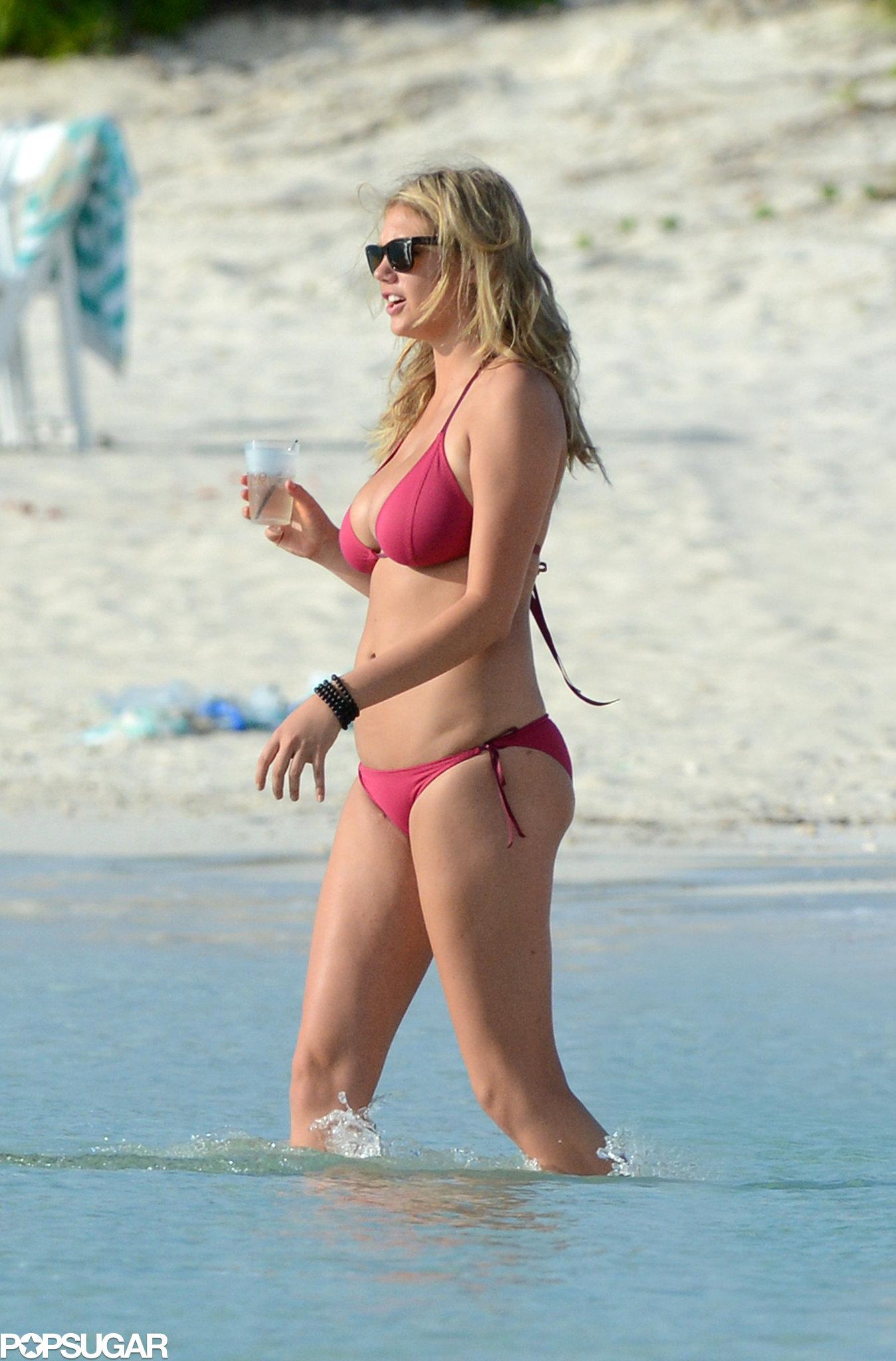 Kate Upton showed off her bikini body.
