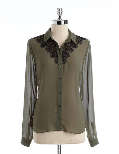 GUESS Lacy Button-Down Shirt