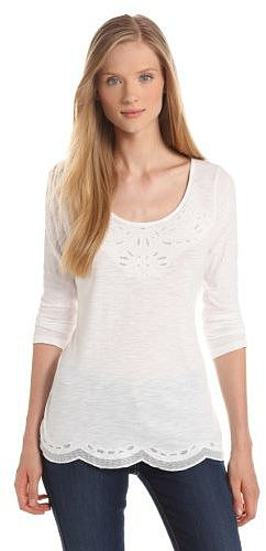 Lucky Brand Women's Fall Cut Out Tee