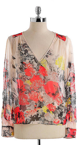 BUFFALO DAVID BITTON Sheer Floral Print Top