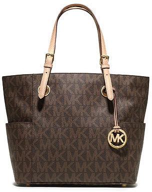 MICHAEL Michael Kors  Logo-Print Signature Tote Bag, Brown