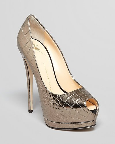 Giuseppe Zanotti Pumps - Sharon Alligator Peep Toe