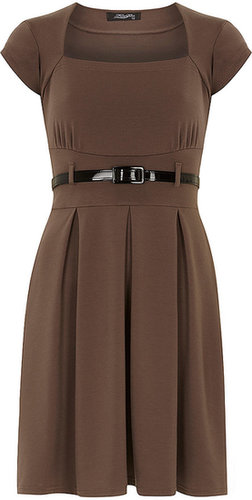 Feverfish Mocha bolero flared dress