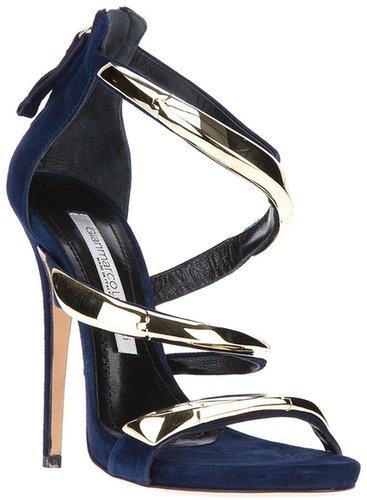 Gianmarco Lorenzi metallic strappy sandal