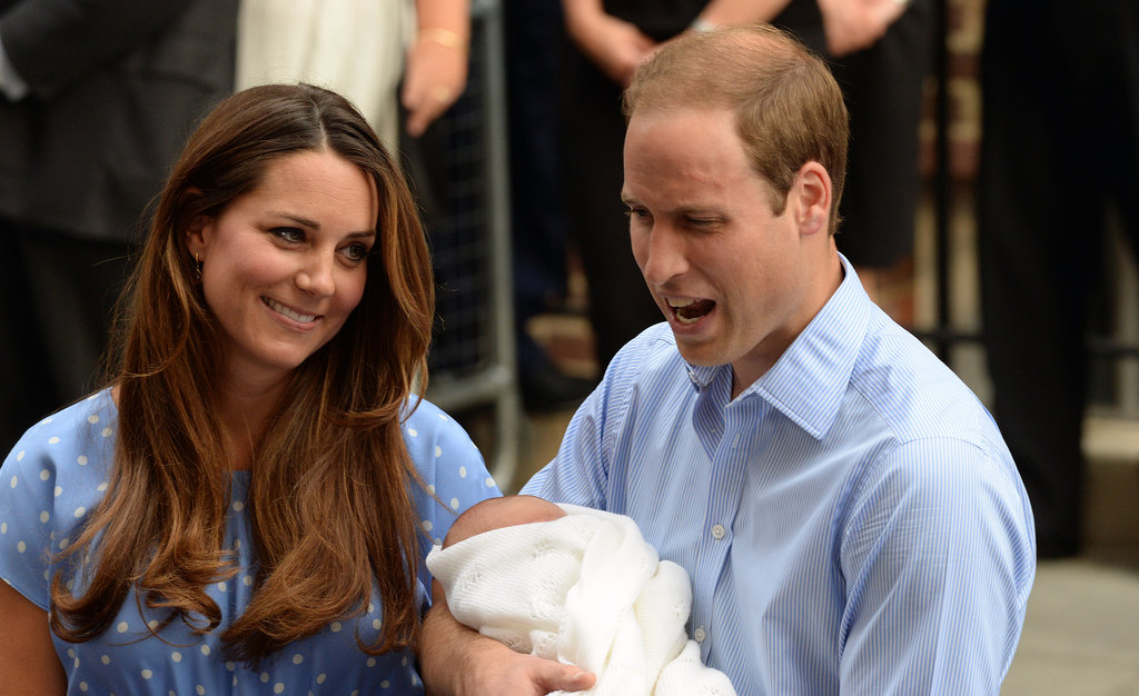 Prince William joked around with Kate Middleton as they left the hospital with the royal baby.