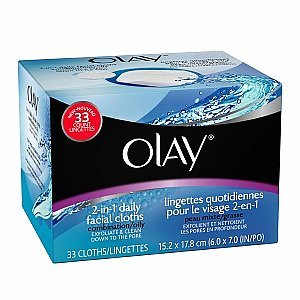 Olay 2-in-1 Daily Facial Cloths, Combination/Oily