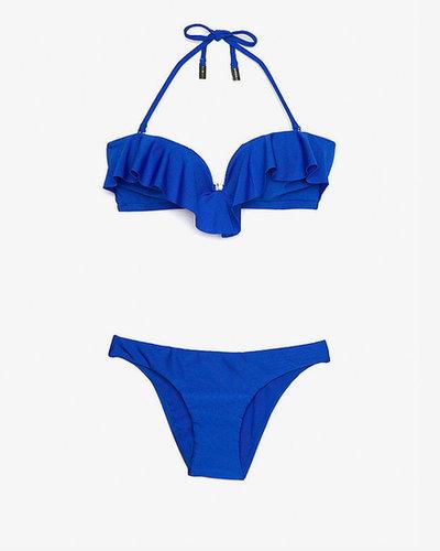 Zimmermann Frill Bandeau Bikini: Blue