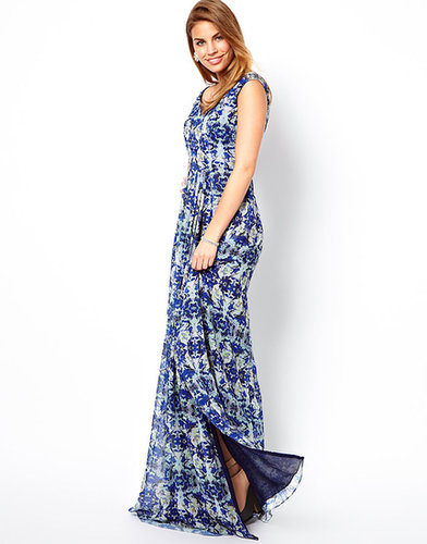 Virgos Lounge Embellished Maxi Dress in Oceana Print