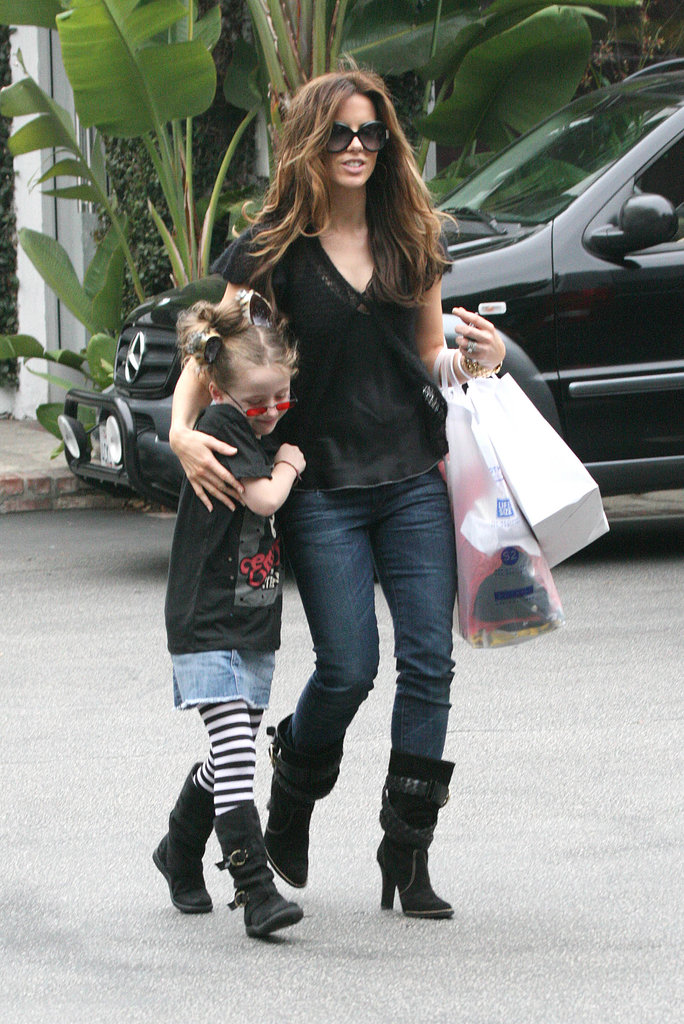 It may be a coincidence, but we love how Kate got into the Halloween spirit, working pointed black suede boots any good witch would approve of, during an October 2008 Santa Monica shopping trip with her daughter, Lily.