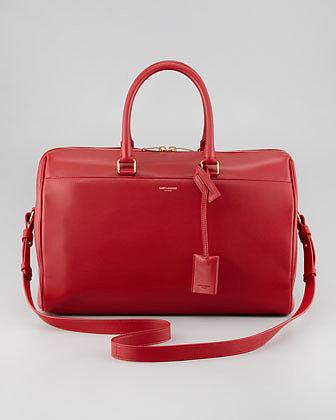 Saint Laurent Medium Classic Duffle Bag, Red