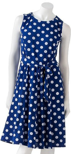 Ronni nicole polka-dot dress