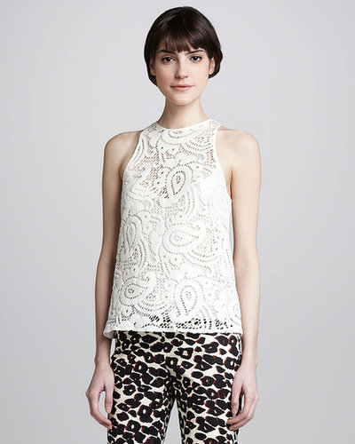 Nanette Lepore Inca Sleeveless Lace Top