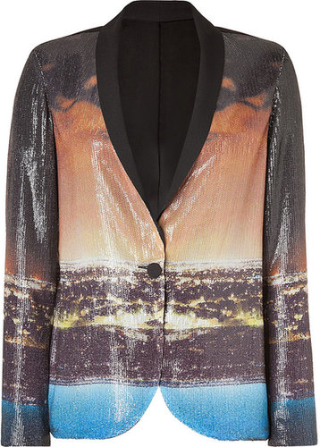 Clover Canyon Black-Multi Citylights Sequined Blazer