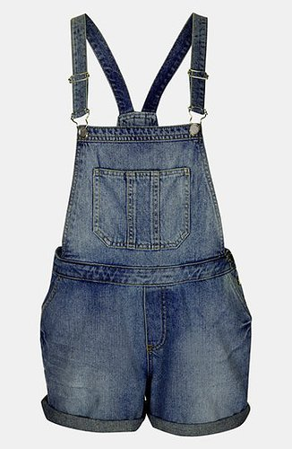Topshop Moto 'Tommy' Short Overalls Mid Stone 4