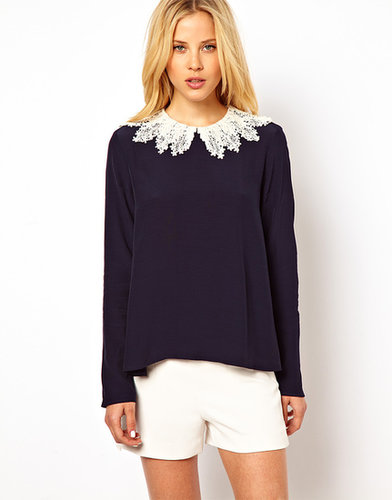 ASOS Swing Top with Crochet Collar