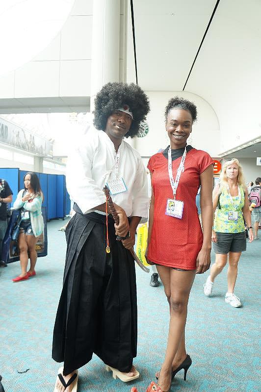 Afro Samurai and Nyota Uhura