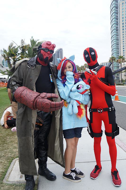Hellboy, Rainbow Dash, and Deadpool queue up for Hall H.