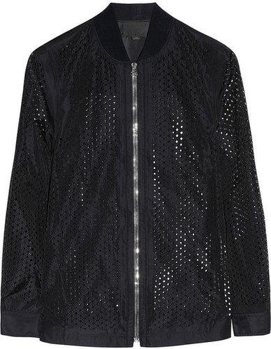 Alexander Wang Laser-cut shell bomber jacket