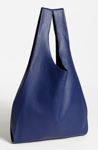 Baggu 'Medium' Leather Shoulder Bag Black