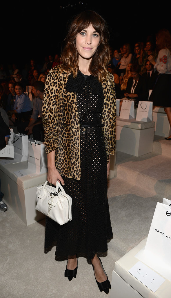 For a front-row outing at the Marc Jacobs Spring 2013 show, Alexa outfitted her leopard-print coat and eyelet dress with her demure low heels.