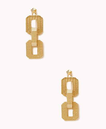 FOREVER 21 Oversized Chain-Link Earrings