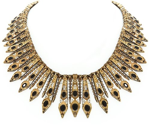 House of Harlow 1960 Gypsy Feather Necklace in Gold
