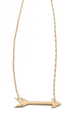 Jennifer zeuner jewelry Horizontal Arrow Necklace