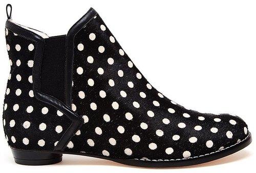 Sophia Webster Tara Polka Dot Ponyskin Ankle Boots