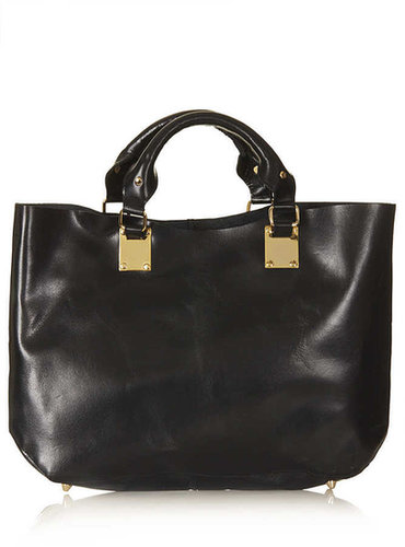 Plated Leather Tote