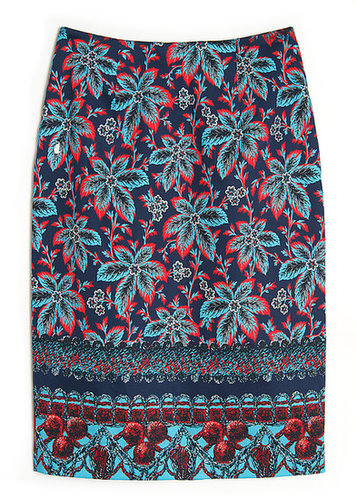 Prabal Gurung Printed Pencil Skirt