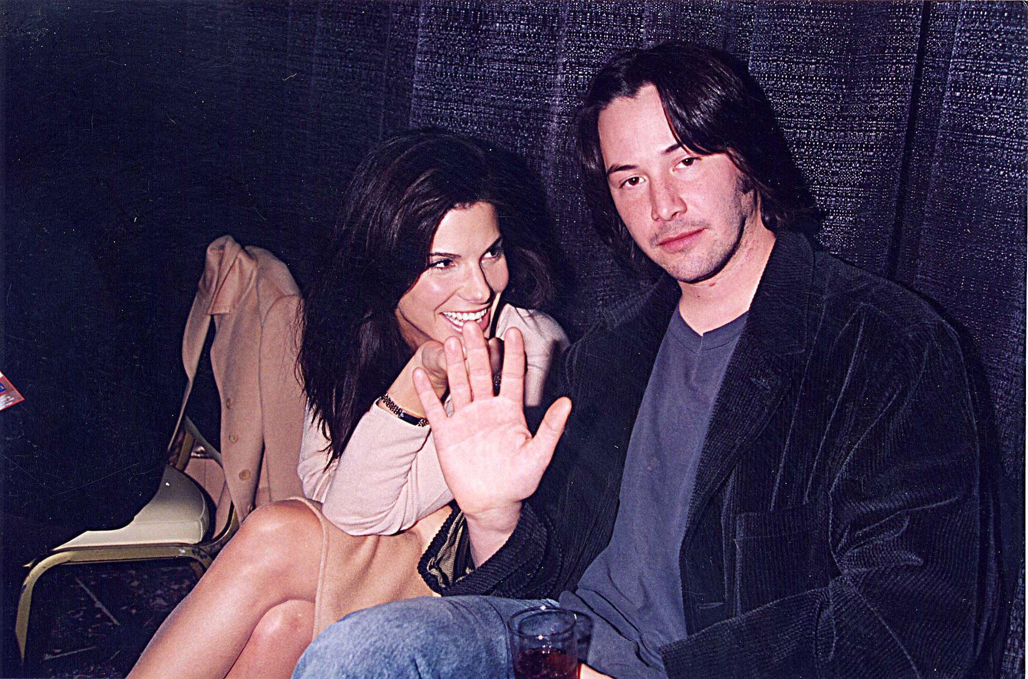 Keanu Reeves? Sandra-Bullock-Keanu-Reeves-were-all-smiles-September-1996