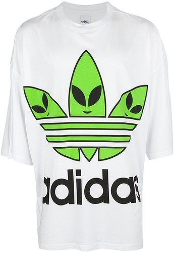 Adidas Originals By Jeremy Scott oversize alien logo t-shirt