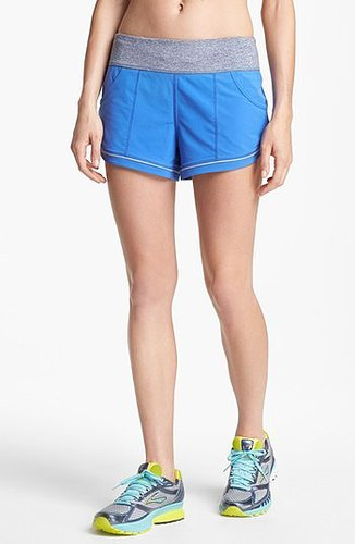 Zella 'Move 2' Melange Waistband Shorts Blue Persia Medium