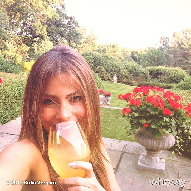 It's 5 o'clock somewhere, right Sofia? Source: Sofia Vergara on WhoSay