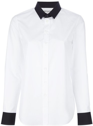 Saint Laurent pointed collar shirt