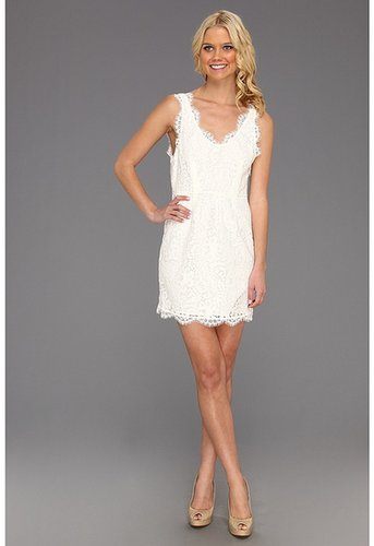Joie - Rori Lace Dress (Porcelain) - Apparel